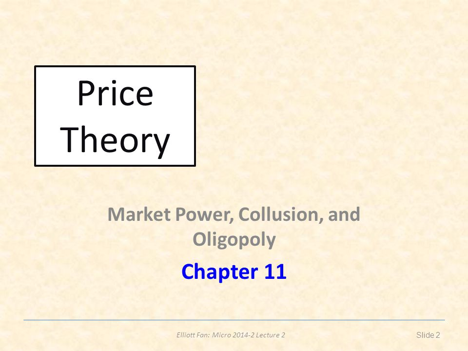 Elliott Fan: Micro 2014-2 Lecture 2 A handsome application of theory of monopoly Figure 1 denotes the firm s production where capital x1 is plotted on the horizontal axis and labor x2 on the vertical axis.