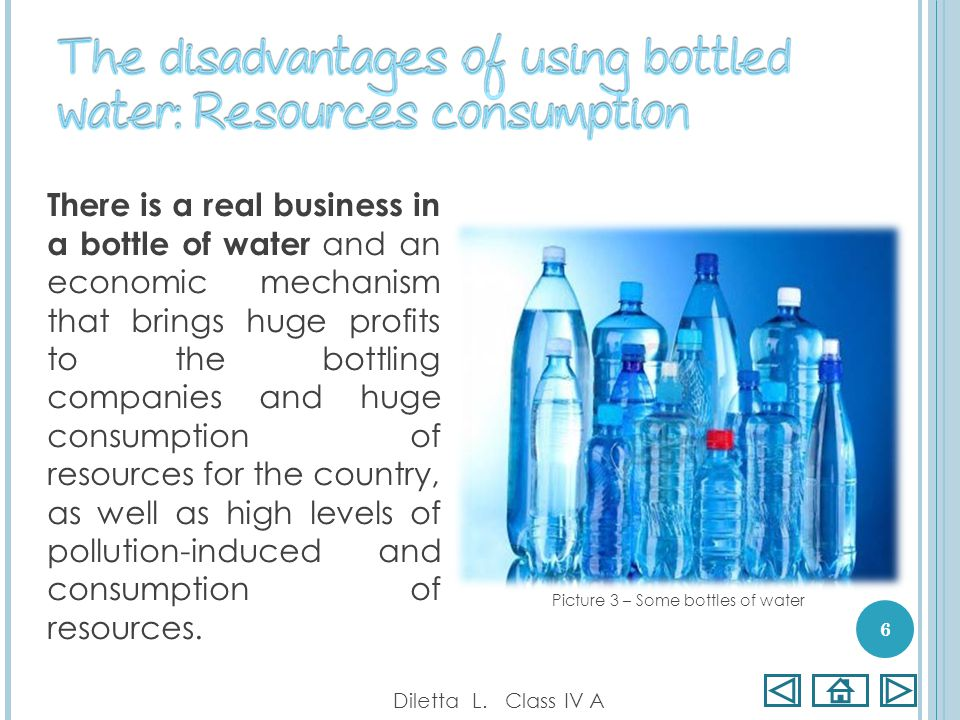 There is a real business in a bottle of water and an economic mechanism that brings huge profits to the bottling companies and huge consumption of res