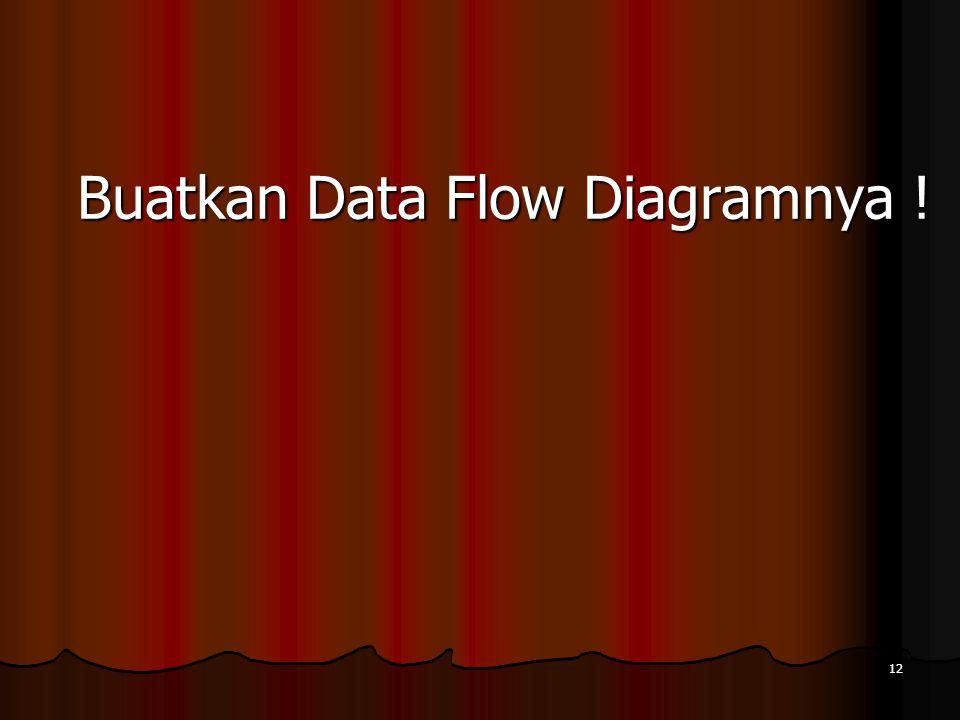 12 Buatkan Data Flow Diagramnya !