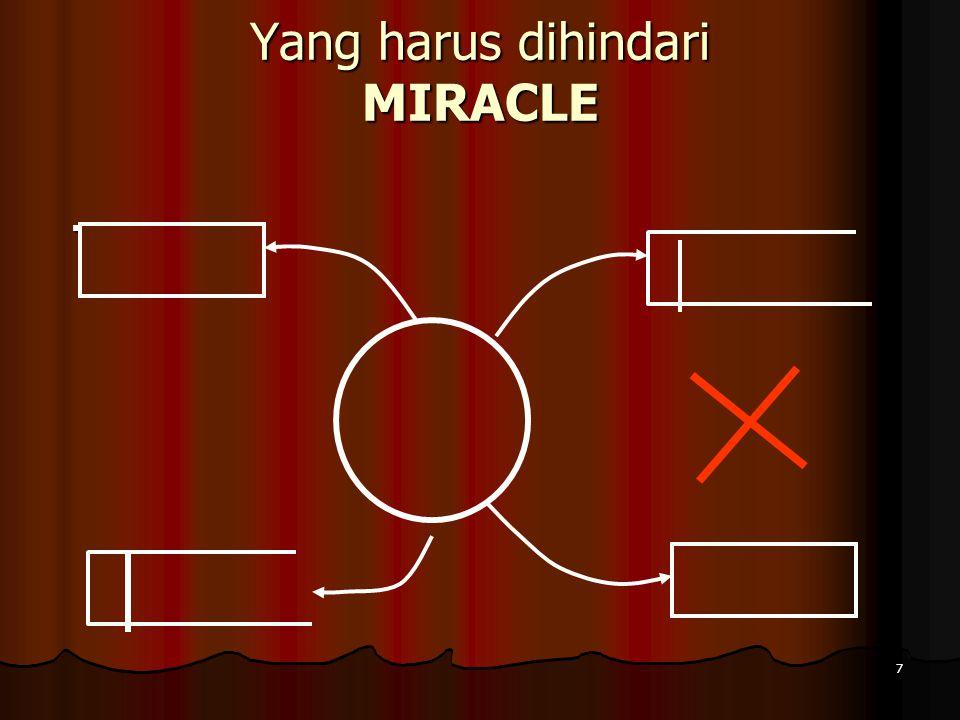 7 Yang harus dihindari MIRACLE.