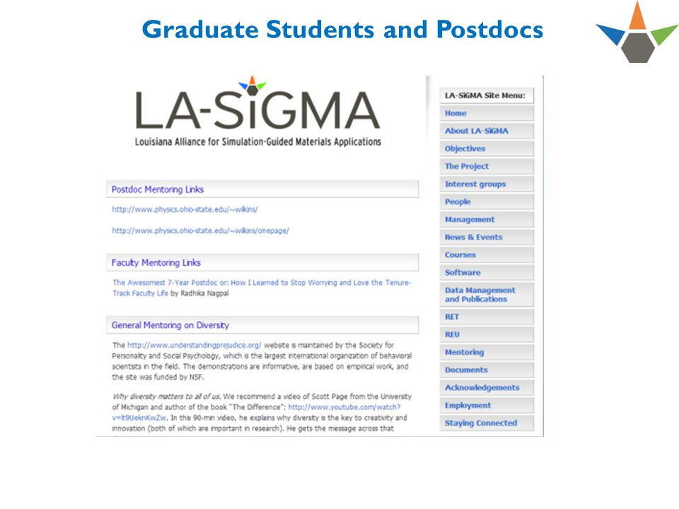 Graduate Students and Postdocs