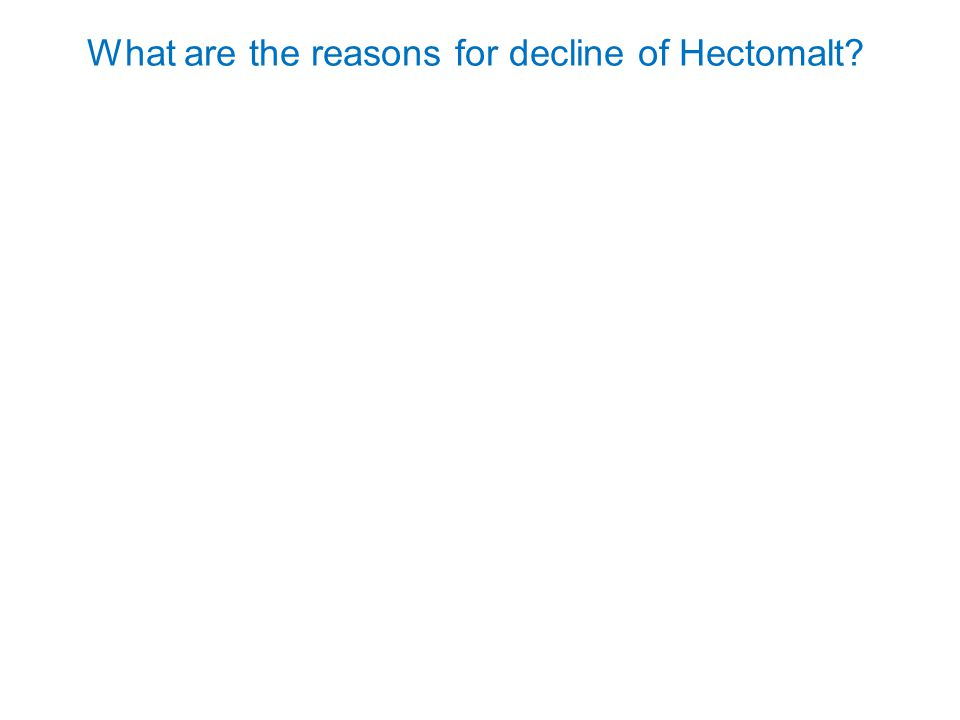 What are the reasons for decline of Hectomalt?