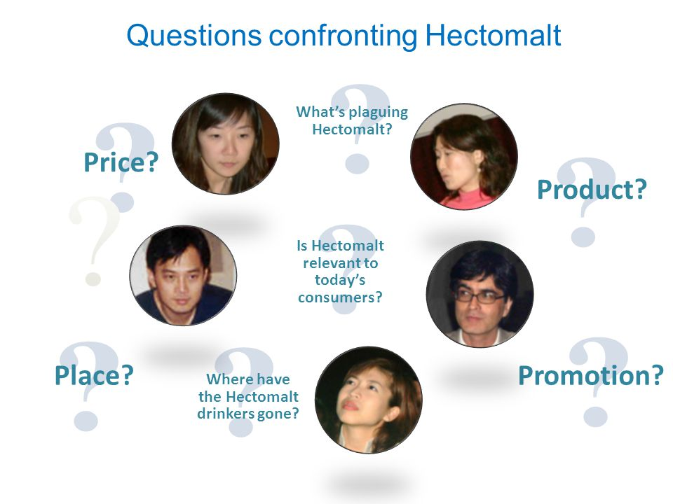 Is Hectomalt relevant to today's consumers? Where have the Hectomalt drinkers gone? Price? What's plaguing Hectomalt? Questions confronting Hectomalt