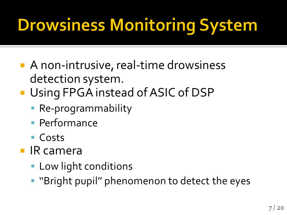 A non-intrusive, real-time drowsiness detection system.