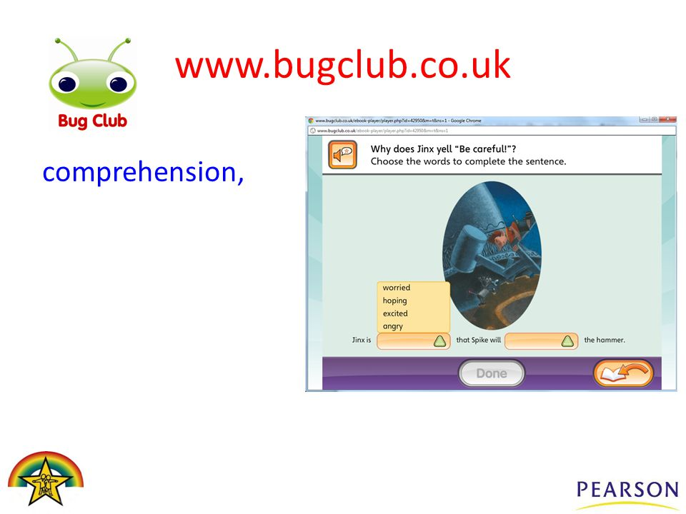 comprehension, www.bugclub.co.uk