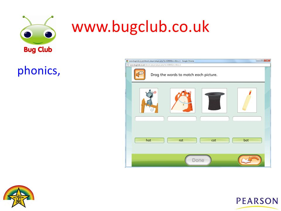 phonics, www.bugclub.co.uk