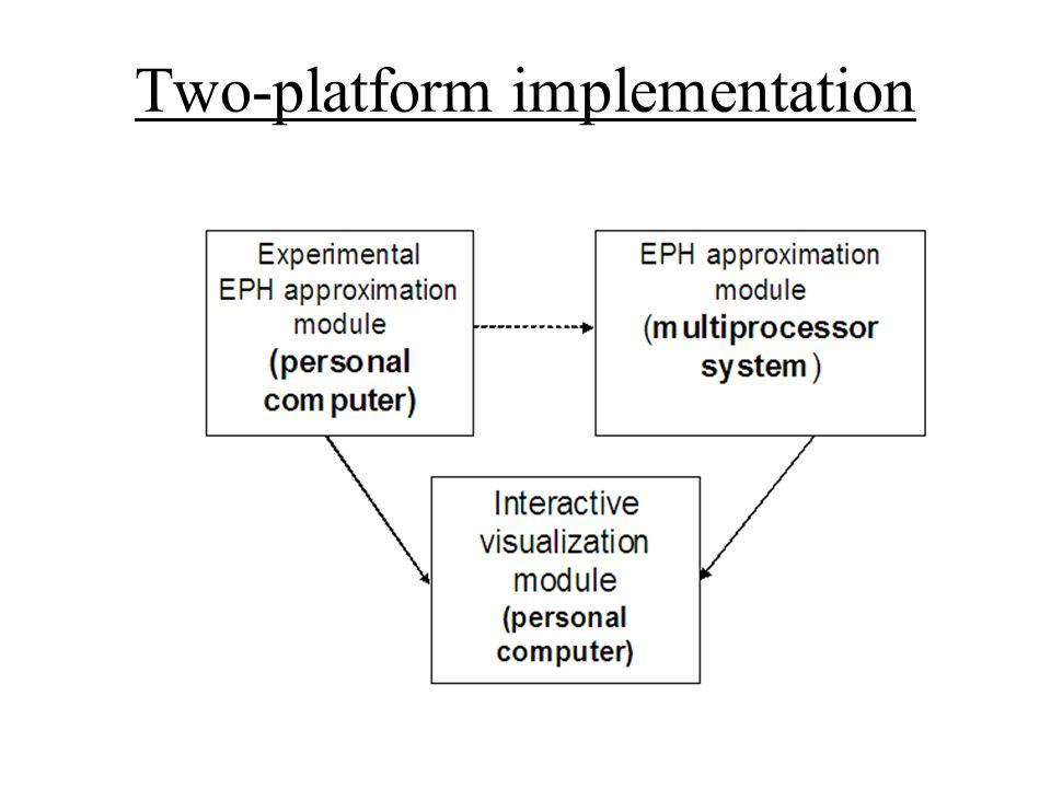 Two-platform implementation