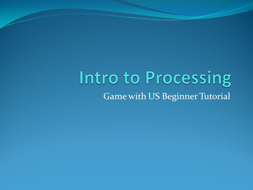 Game with US Beginner Tutorial