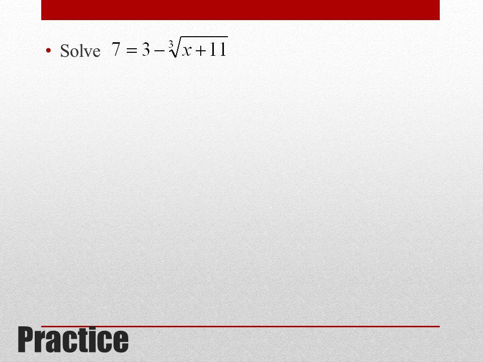 Practice Solve