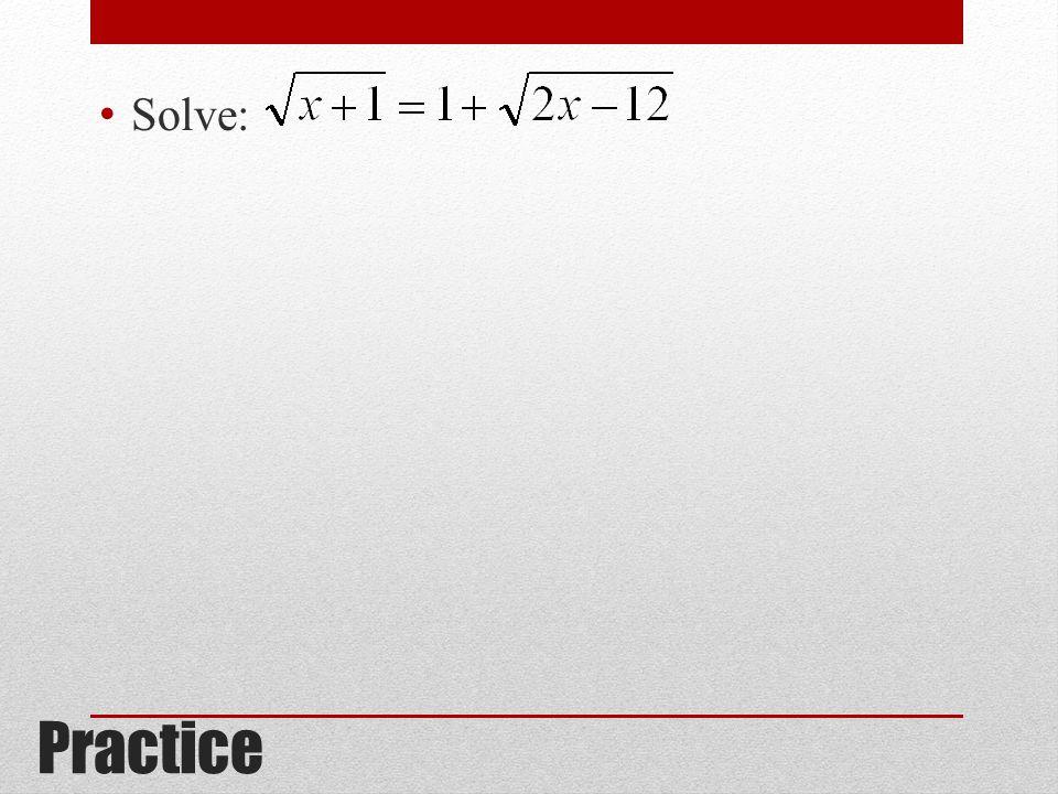 Solve: Practice