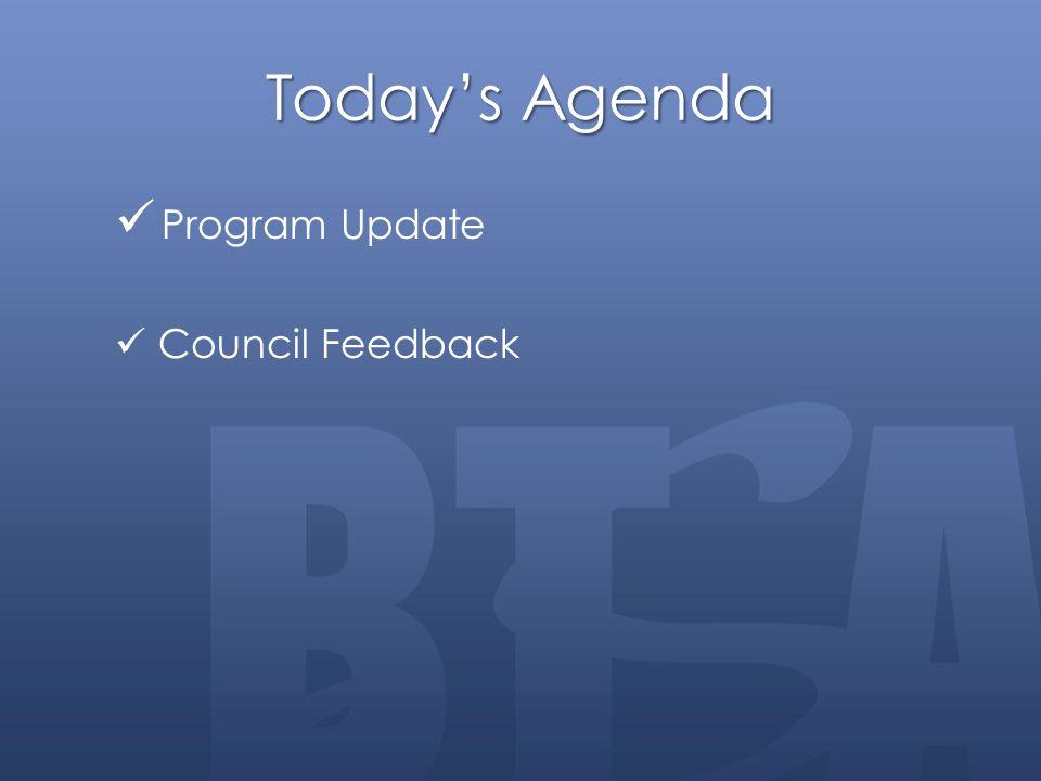Today's Agenda Program Update Council Feedback