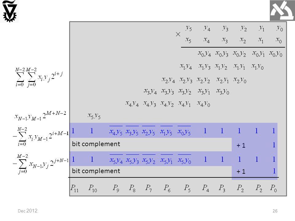 Dec 2012 bit complement + 1 bit complement + 1 26