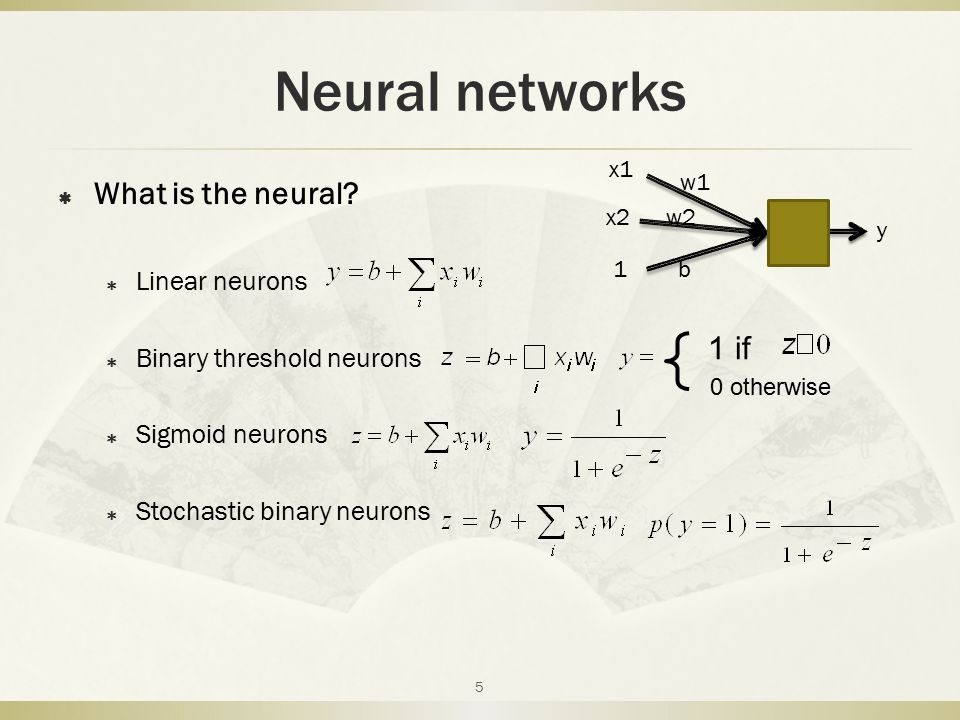 Neural networks  Two layer neural networks ( Sigmoid neurons ) 6 Back-propagation Step1: Randomly initial weight Determine the output vector Step2: Evaluating the gradient of an error function Step3: Adjusting weight, Repeat The step1,2,3 until error enough low