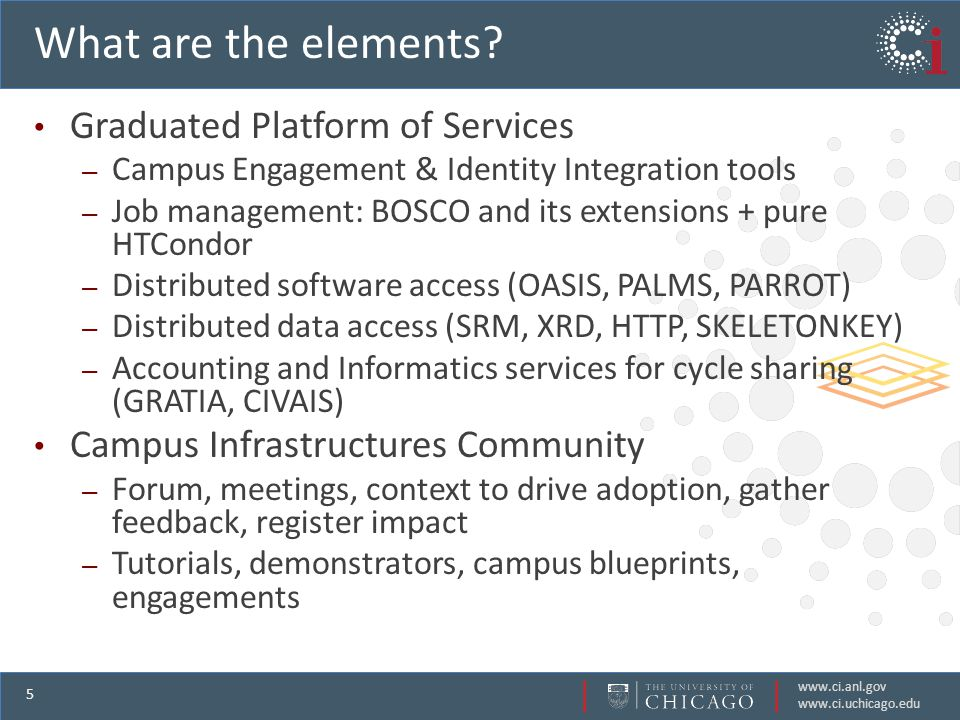 www.ci.anl.gov www.ci.uchicago.edu 5 What are the elements.