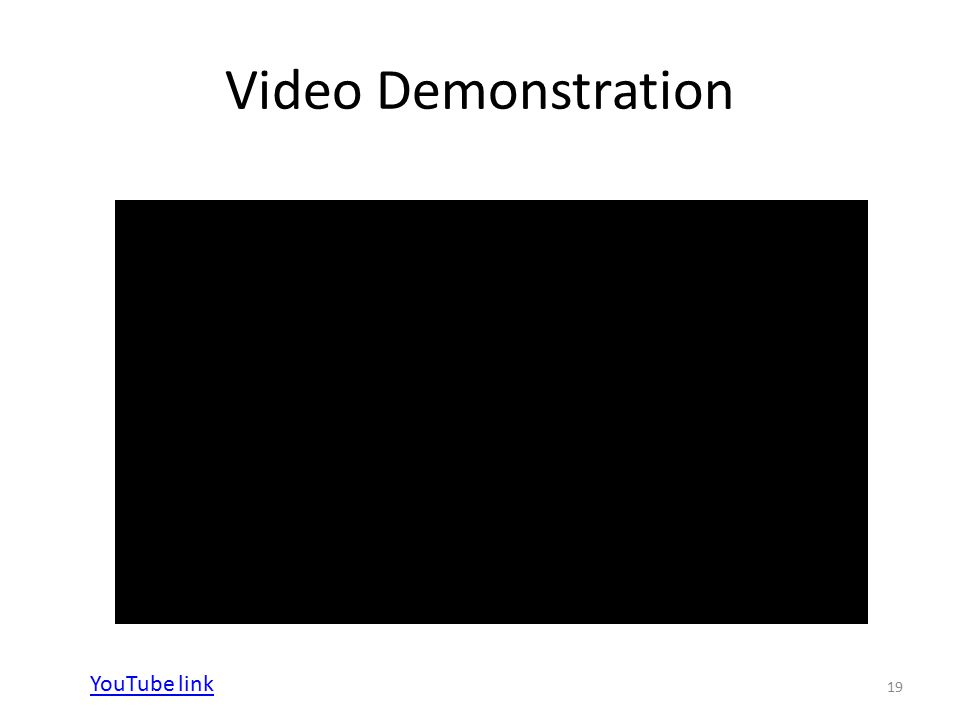 Video Demonstration 19 YouTube link