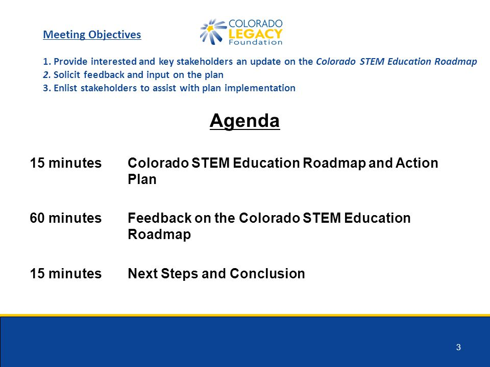 14 Next Steps November – present to ELC CWDC and CLF move STEM work forward February 2014 – release STEM Action Plan 2014-2016 – implementation 2016 – sustain work