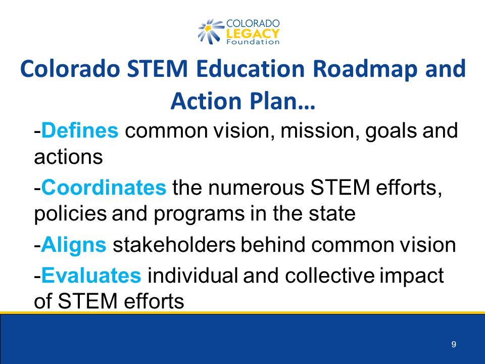 10 Coordination Interface with Governor's Office Strategic Partners Stakeholder Engagement Implementation Partners Industry Partners Funding Partners