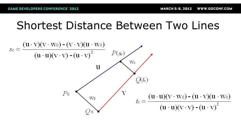 Shortest Distance Between Two Lines