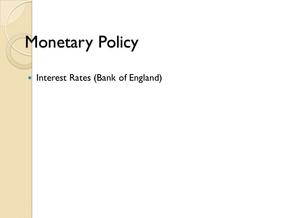 Monetary Policy Interest Rates (Bank of England)