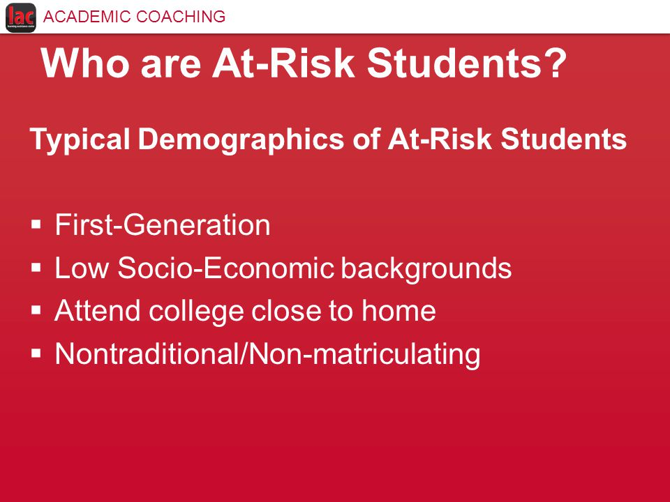 Who are At-Risk Students.