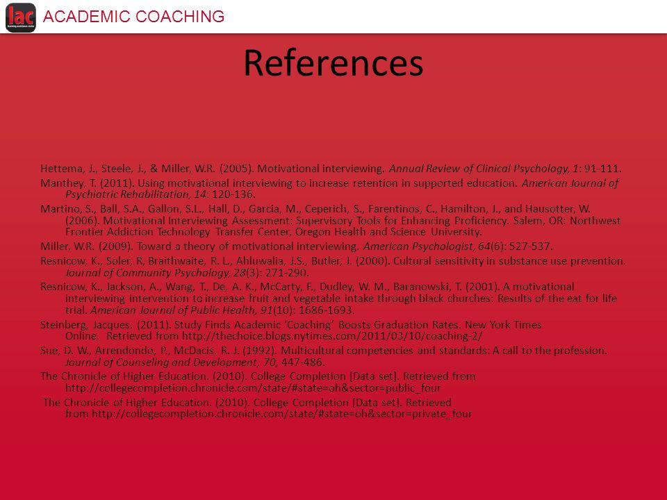 References Hettema, J., Steele, J., & Miller, W.R.