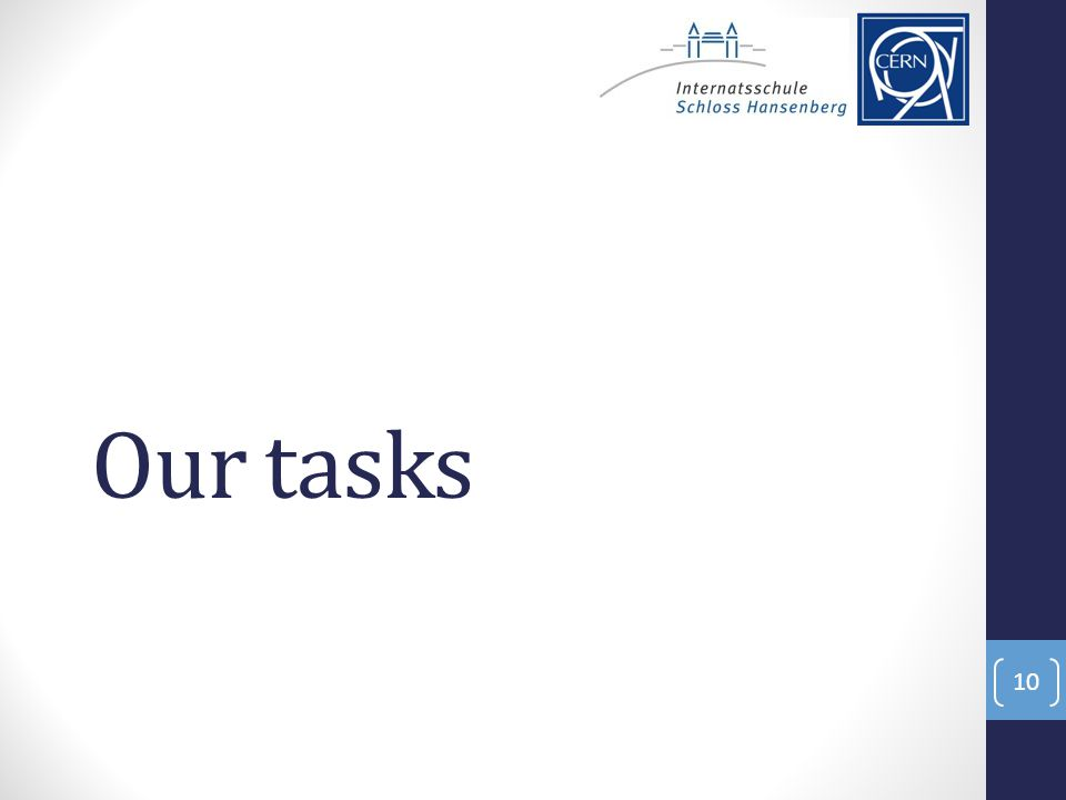 Our tasks 10
