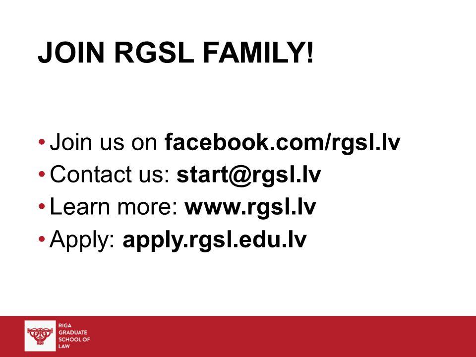 JOIN RGSL FAMILY.