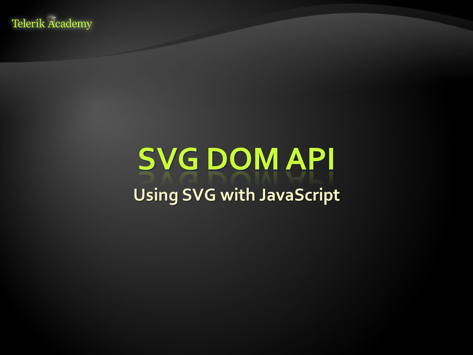 Using SVG with JavaScript