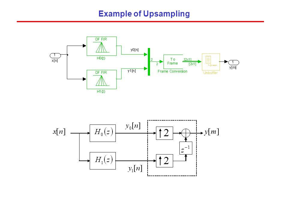 Example of Upsampling