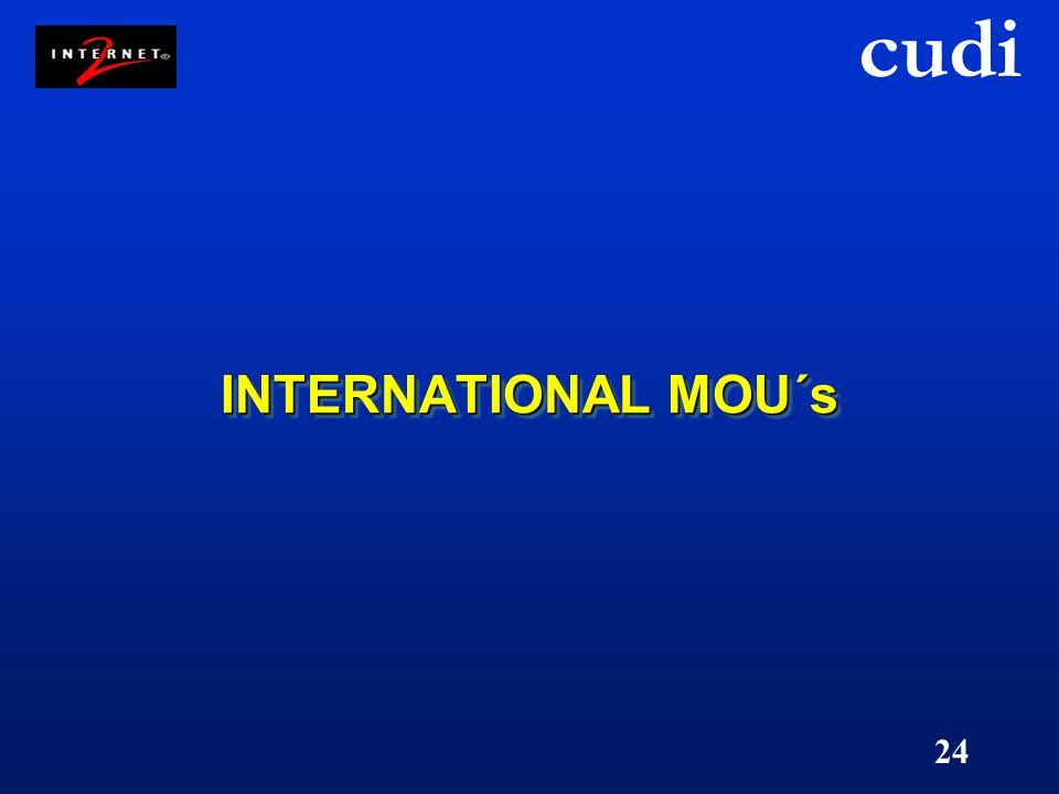 cudi 24 INTERNATIONAL MOU´s