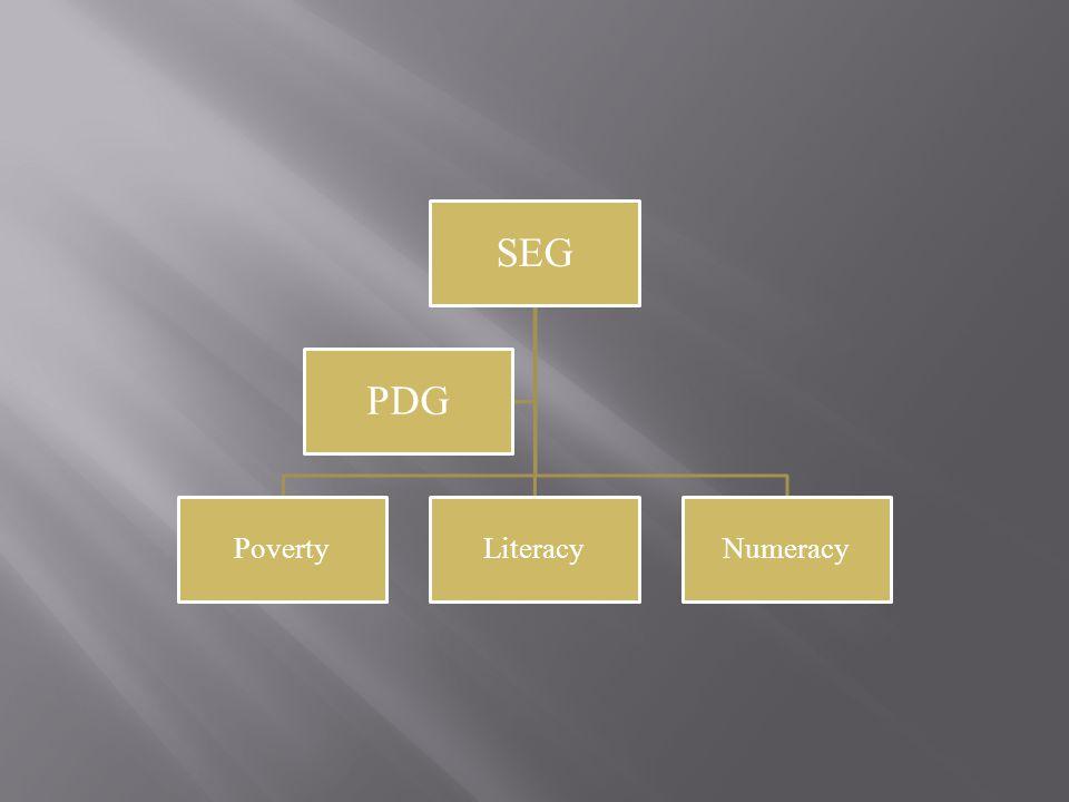 SEG PovertyLiteracyNumeracy PDG