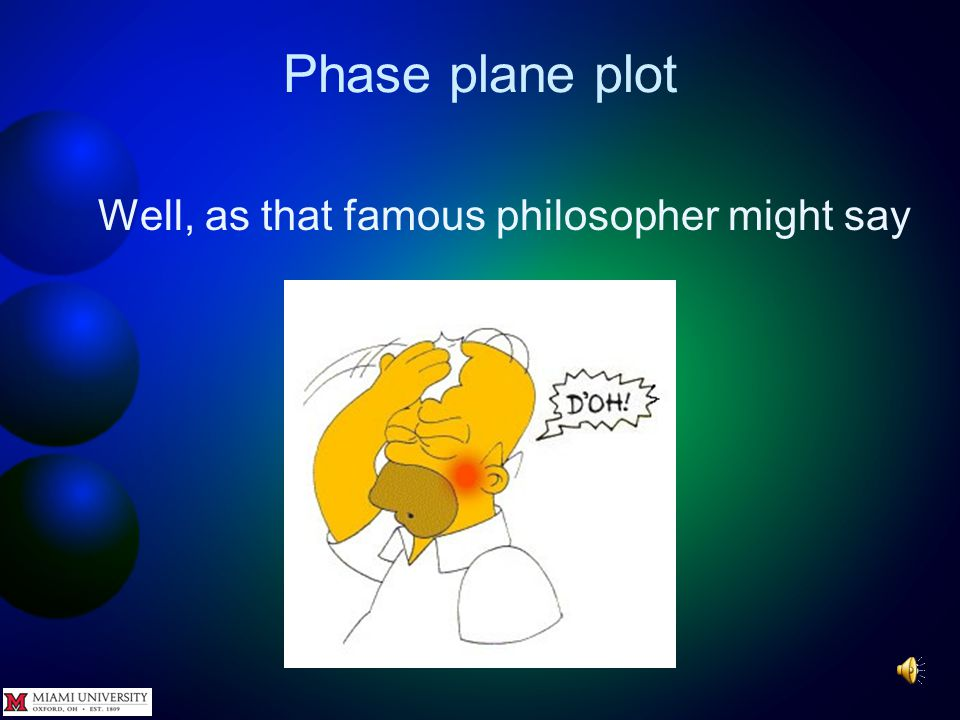 Phase plane plot 45 Again, it appears that if the initial conditions of the solutions of a differential equation are close to each other, the solutions are also close to each other.