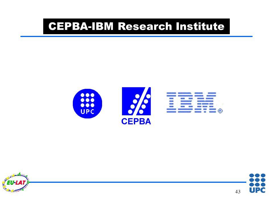 43 CEPBA-IBM Research Institute