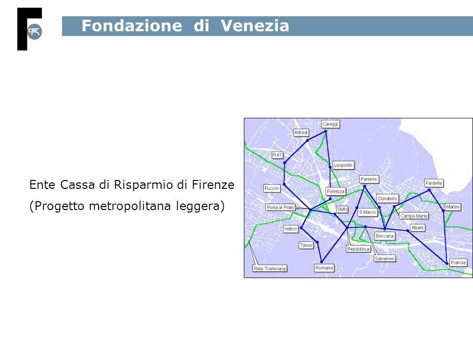 Fondazione di Venezia Ente Cassa di Risparmio di Firenze (Progetto metropolitana leggera)
