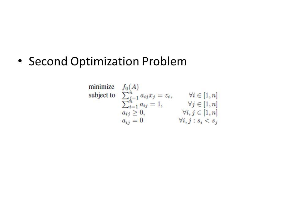 Second Optimization Problem