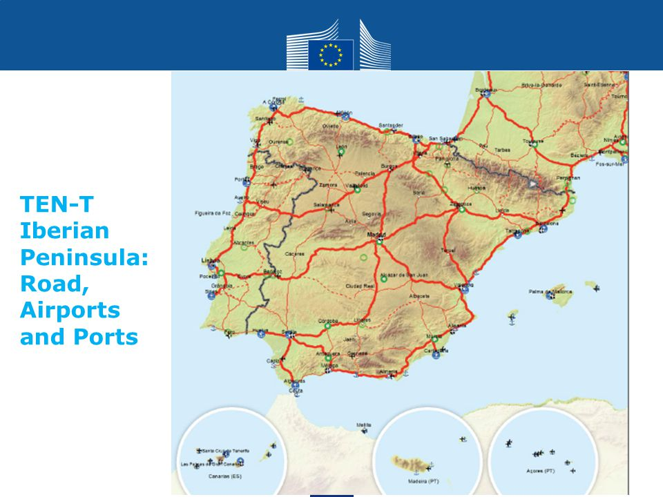 Transport TEN-T Iberian Peninsula: Road, Airports and Ports