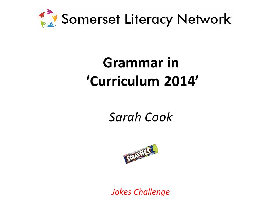 Teaching grammar Consistently use the terminology Spot in reading – shared and guided Interactive starter activities and games linked to focus Shared writing – success criteria/toolkit Editor pairs – success criteria/toolkit Build into other areas of the curriculum