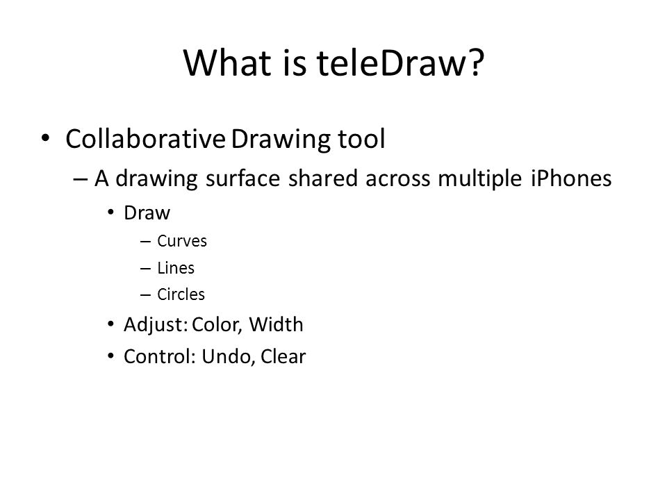 What is teleDraw.