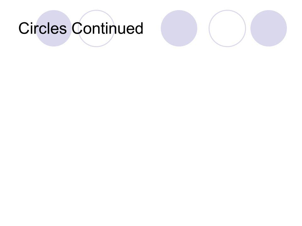 Circles Continued