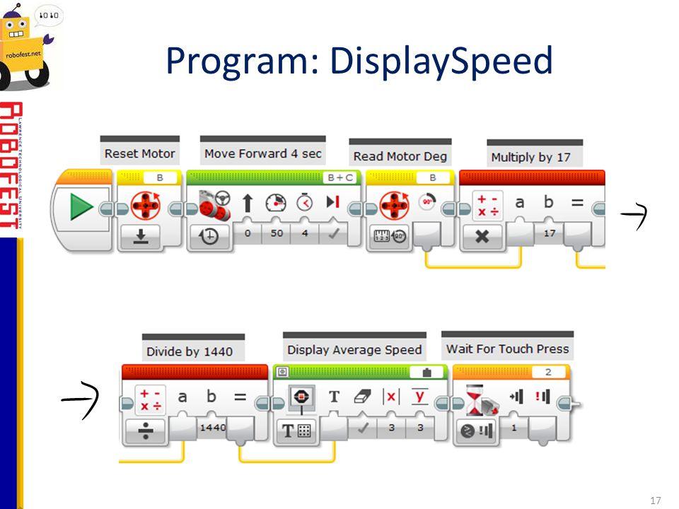 Program: DisplaySpeed 17
