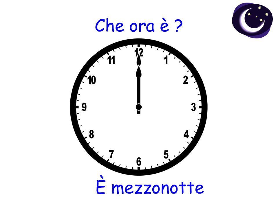 Che ora è ? È mezzonotte