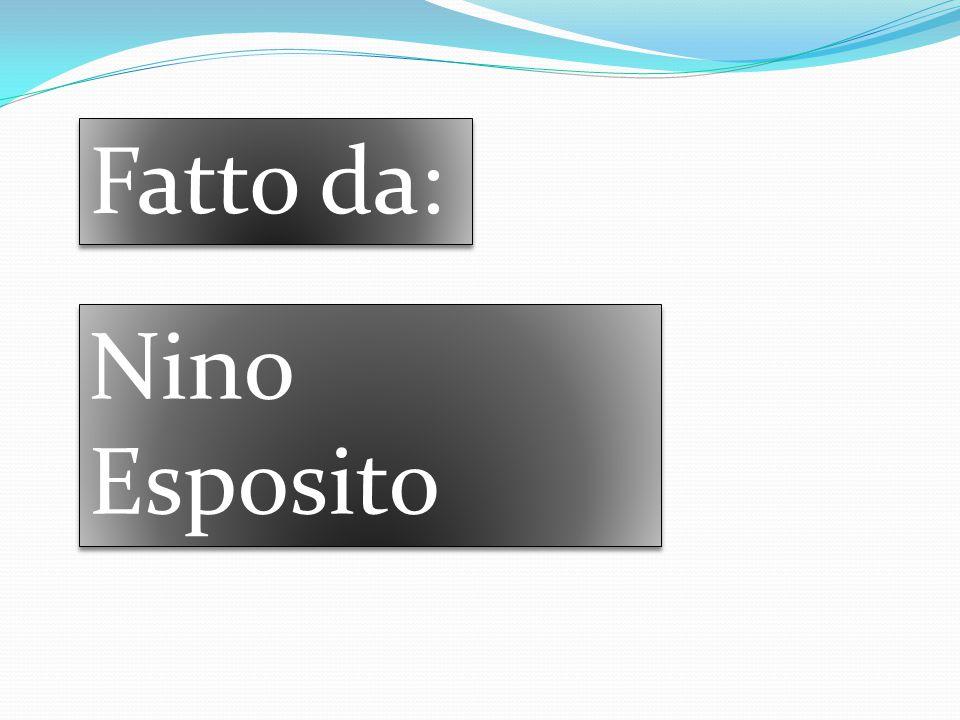 Fatto da: Nino Esposito