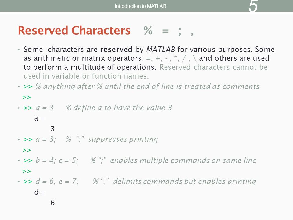 There are many types of files in MATLAB.