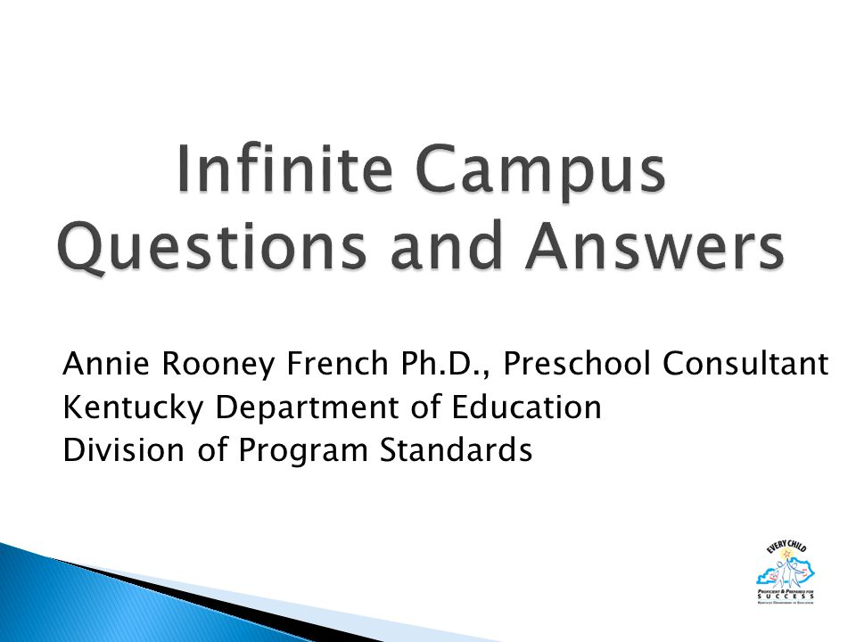 Annie Rooney French Ph.D., Preschool Consultant Kentucky Department of Education Division of Program Standards