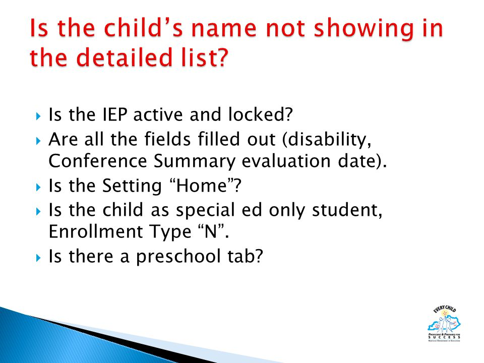  Is the IEP active and locked.