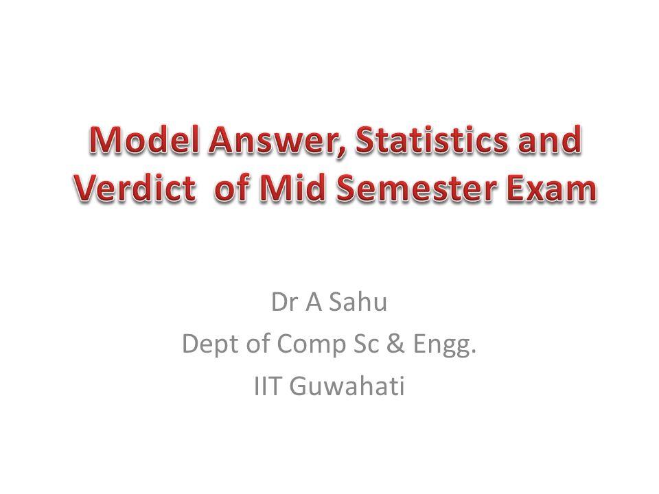 Dr A Sahu Dept of Comp Sc & Engg. IIT Guwahati