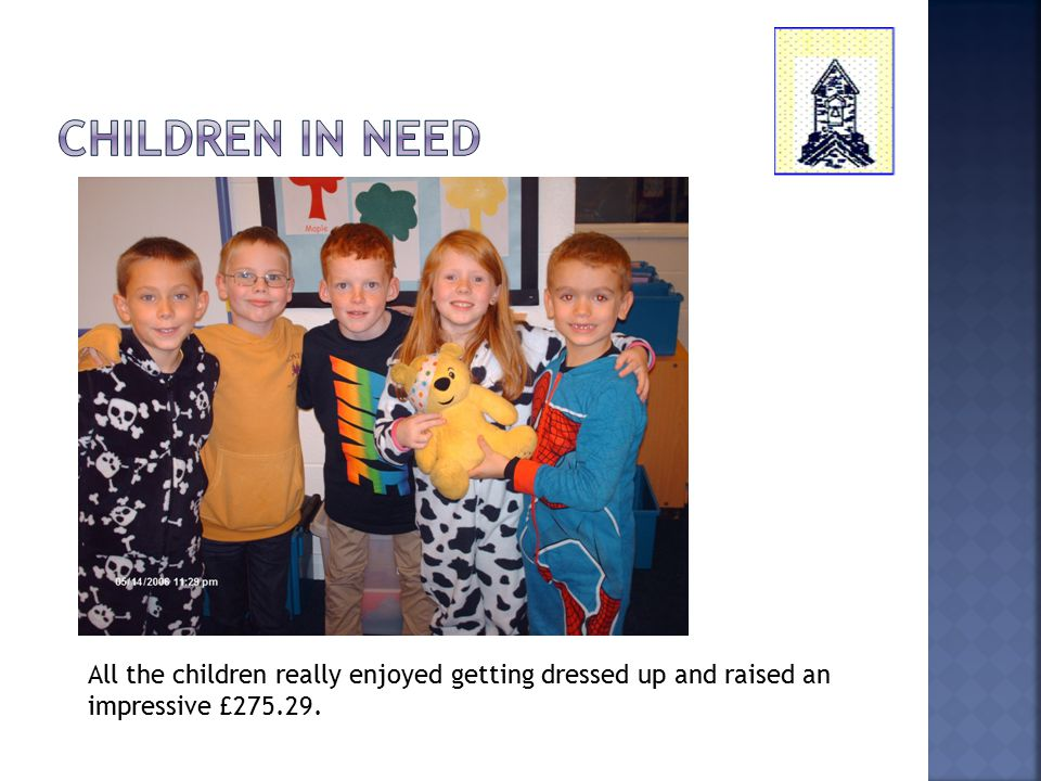 All the children really enjoyed getting dressed up and raised an impressive £275.29.