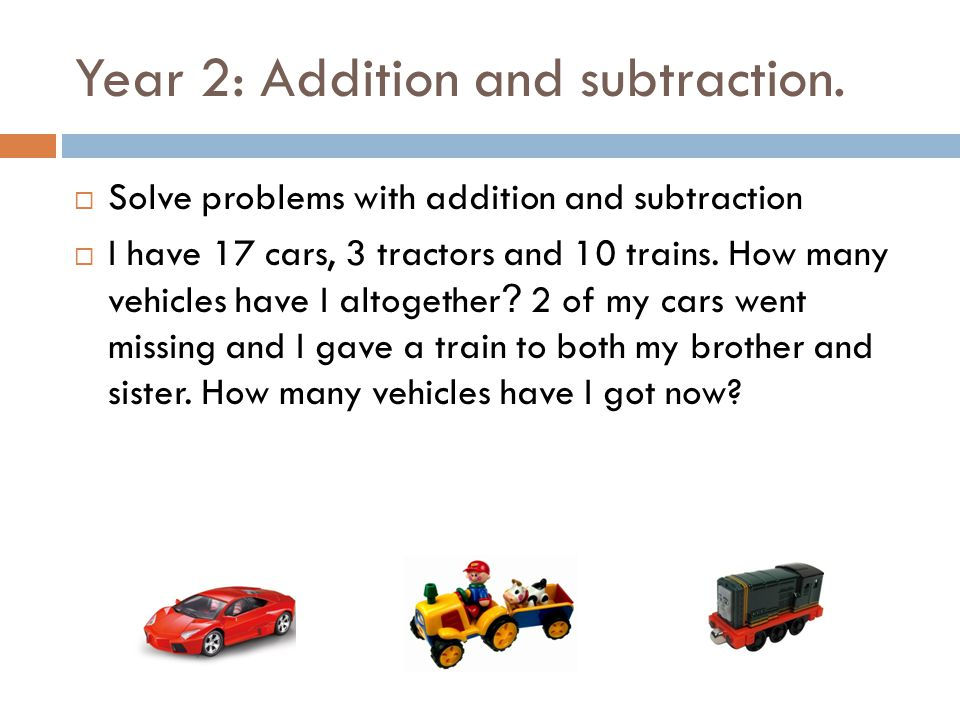 Year 2: Addition and subtraction.