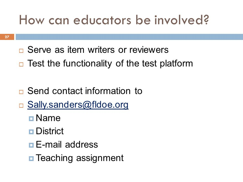 How can educators be involved.