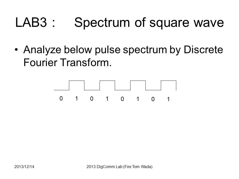 LAB10 OFDM answer 2013/12/142013 DigComm Lab (Fire Tom Wada)